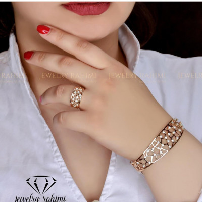 دستبند و انگشتر ست